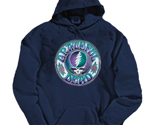 Batik Steal Your Face navy hooded sweatshirt - size XXL