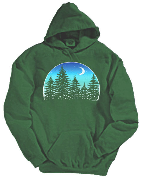 Night Forest hooded sweatshirt