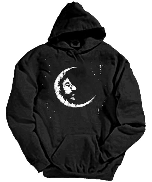 Jerry Moon black hooded sweatshirt