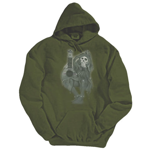 Jester green hooded sweatshirt - M