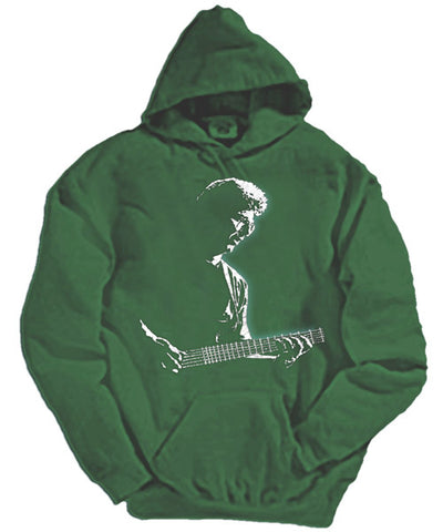 Phil Lesh green hooded sweatshirt