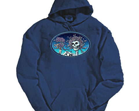 Skull And Roses Oval hooded sweatshirt