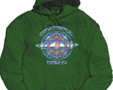 Space Window green hooded sweatshirt