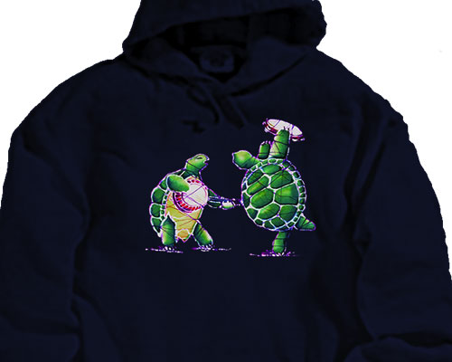 Batik Terrapins hooded sweatshirt