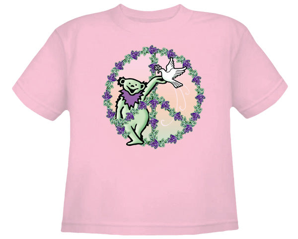 Bear In Peace pink T-shirt