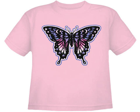 Butterfly pink youth shirt