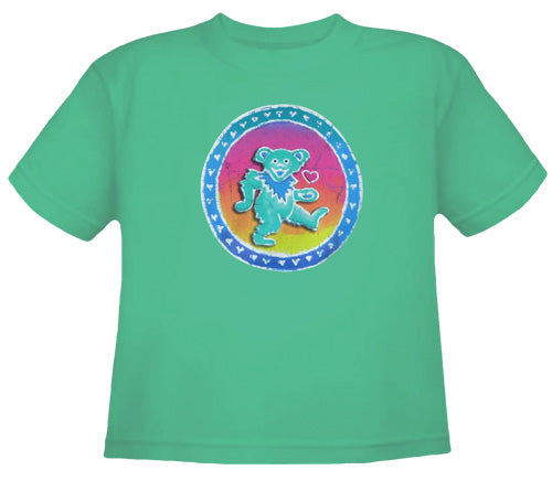 Bear Of Hearts green youth shirt
