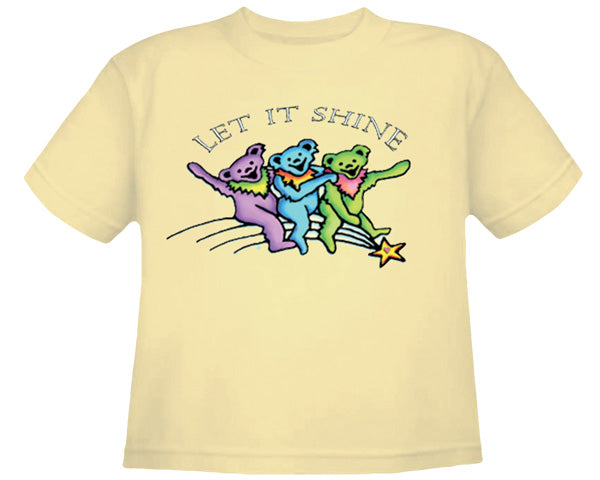Let It Shine light yellow youth shirt