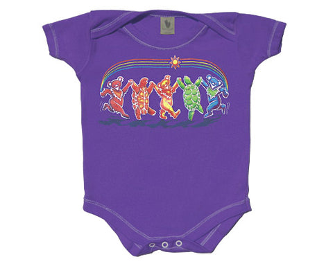 Rainbow Critters grape onesie