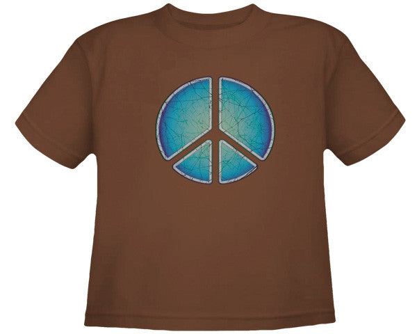 Batik Peace brown youth shirt