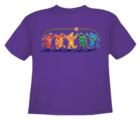 Rainbow Critters grape youth shirt