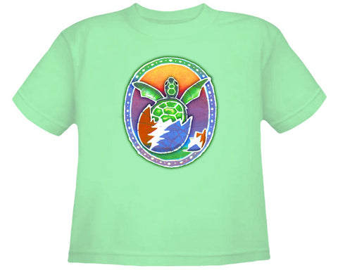 Hatchling Turtle green youth shirt