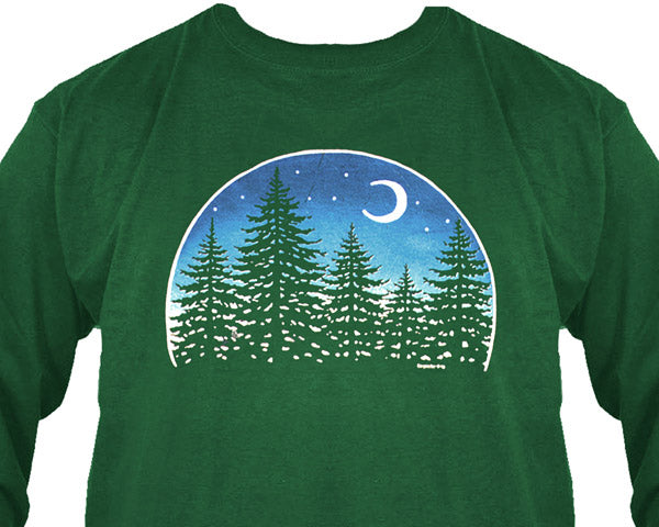 Night Forest long sleeve shirt