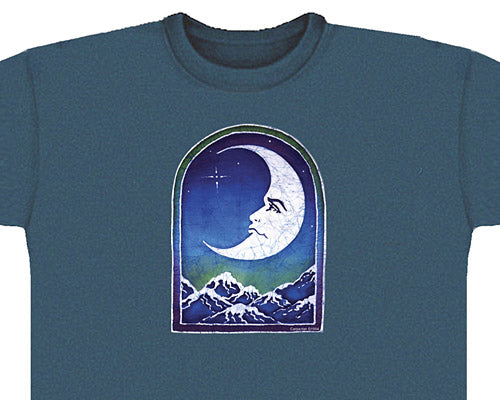 Crescent Moon aqua green T-shirt