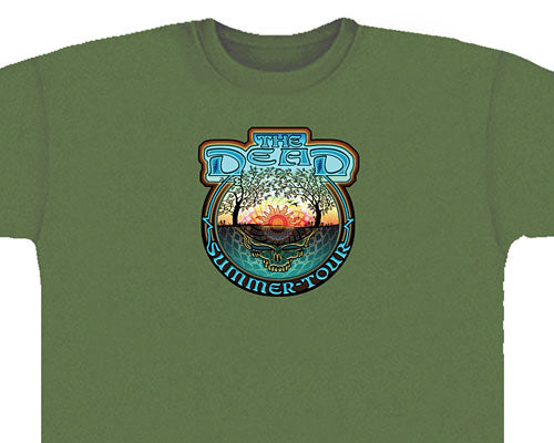 The Dead - Summer Tour green T-shirt