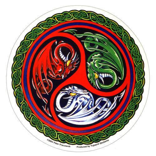 Celtic Shield Dragons decal