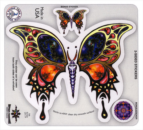 Fractal Butterfly die-cut decals