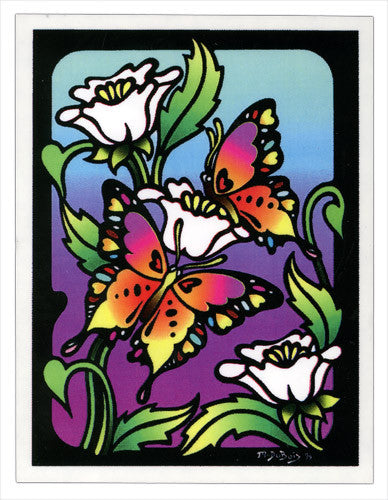 Stained Glass Butterfly decal