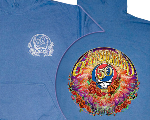 50th Anniversary blue hooded sweatshirt