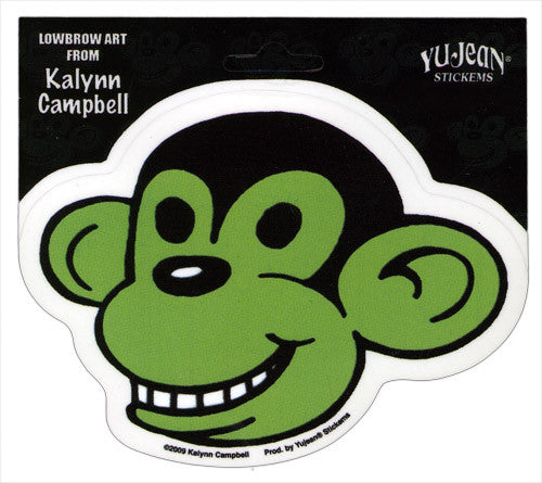 Monkey die-cut decal