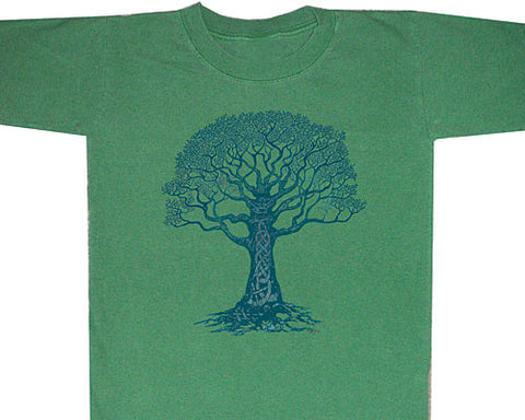 Celtic Tree 2 blue youth shirt - YXS