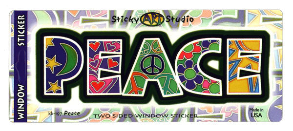 Peace Letters decal