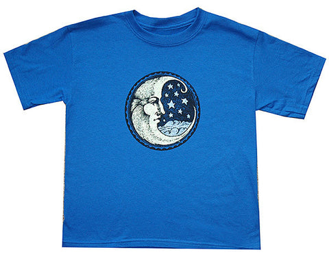 Starry Moon blue youth shirt