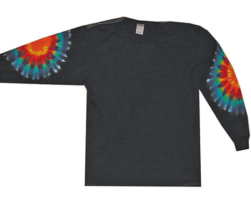 Rainbow Patches tie-dye long sleeve shirt