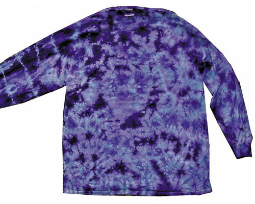Purple Crinkle tie-dye long sleeve shirt