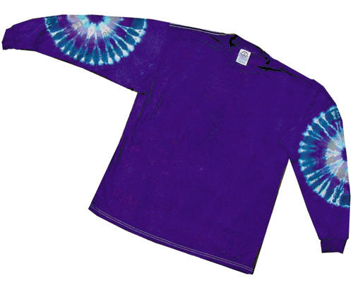 Purple Patches tie-dye long sleeve shirt
