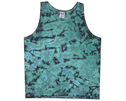 Green Crinkle men's tank