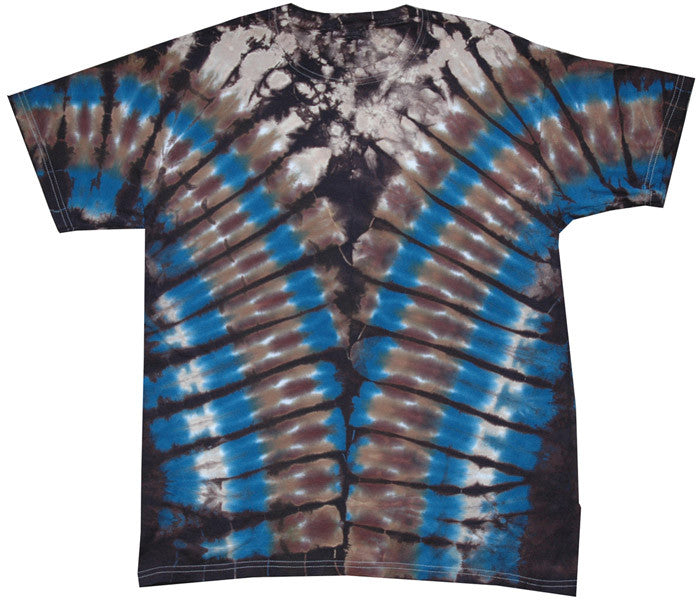 Brown V tie-dye T-shirt