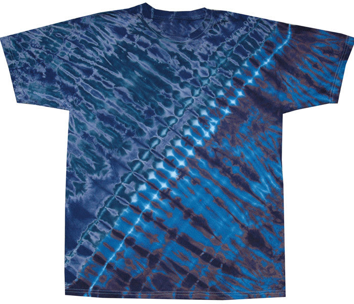 Blue Diagonal tie-dye T-shirt