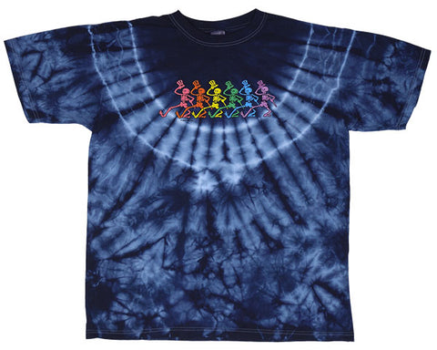 Rainbow Skeletons tie-dye T-shirt