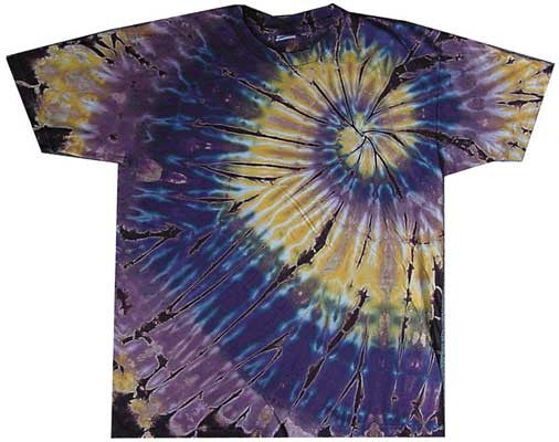 Brown Spiral tie-dye T-shirt