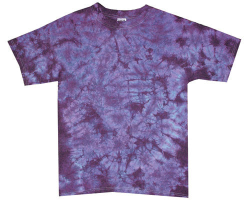 Purple Crinkle tie-dye T-shirt