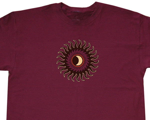 Tribal Eclipse burgundy T-shirt