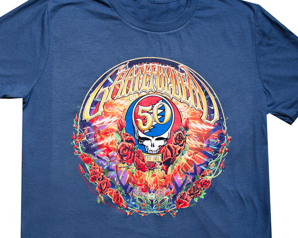 50th Anniversary blue T-shirt
