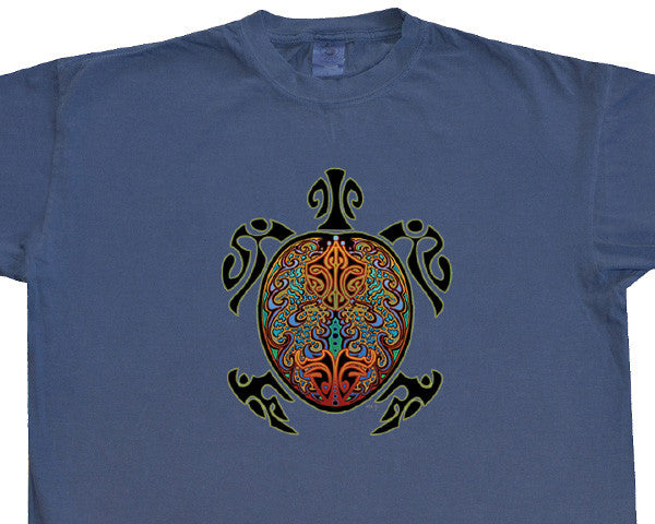 Tribal Turtle navy T-shirt