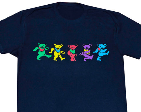 Dancing Bears navy T-shirt