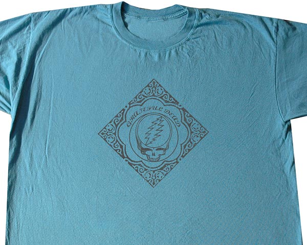 GD Woodcut blue T-shirt