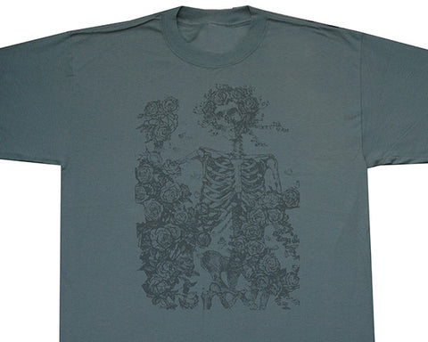 Skeleton And Roses Classic solid T-shirt