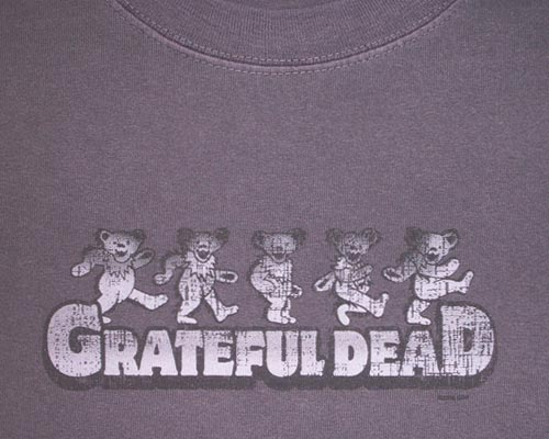 Distressed Dancing Bears grape  T-shirt