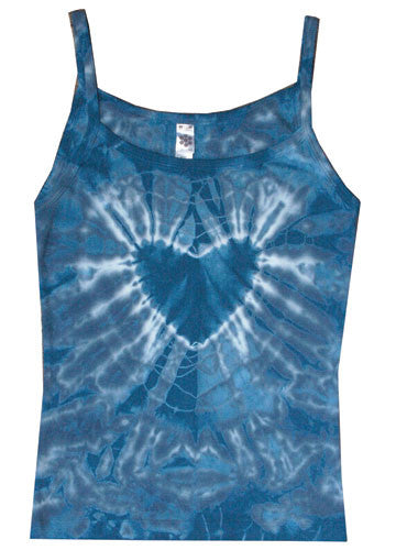 Blue Heart tie-dye string top