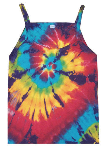 Rainbow Spiral II tie-dye string top
