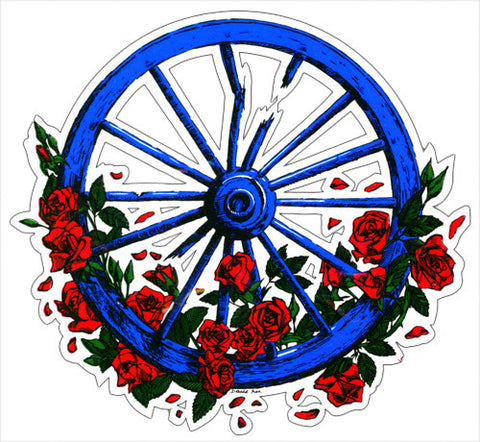 Wheel & Roses decal