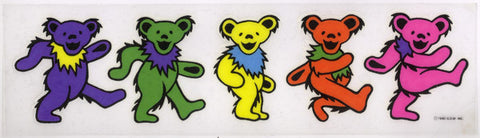 Dancing Bears frosted decal