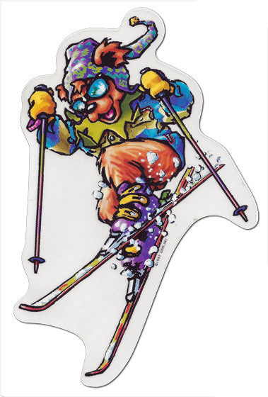 Sports Bear - Skiing die-cut decal