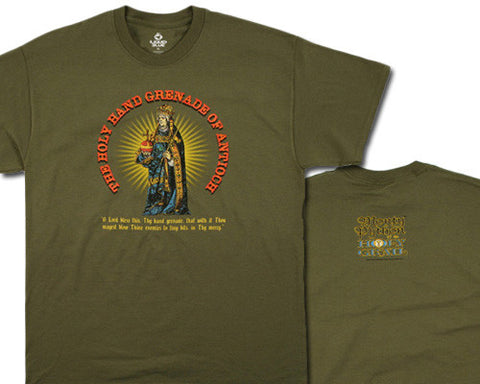 Holy Hand Grenade olive T-shirt