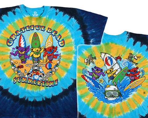 Beach Bear Bingo tie-dye T-shirt